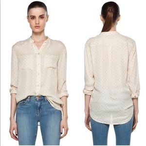 Equipment Femme Bailey Pinpoint Silk Blouse Ivory